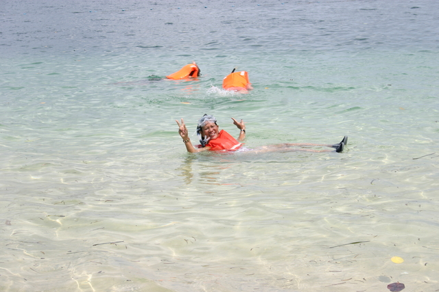 Lovely swim! This was taken at Pandan Island. Great snorkling experience!