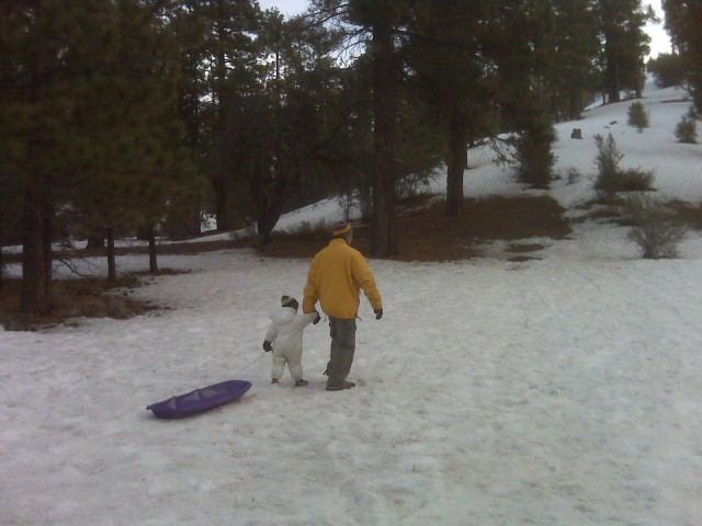 Sledding for the First Time