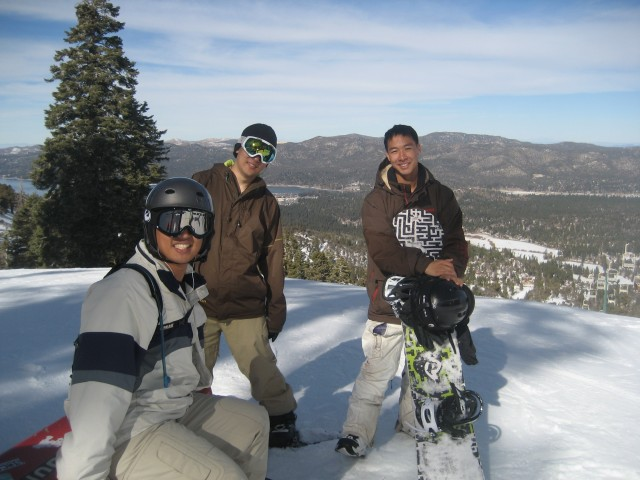 Snowboarding at Bear Mtn